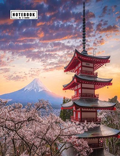 Notebook: Fuji mountain cover and Lined pages, Extra large (8.5 x 11) inches, 110 pages, White paper (Fuji mountain notebook, Band 1)