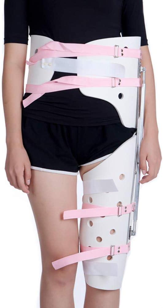 GJNVBDZSF Apoyo para los pies, Abrazadera de la articulación de la Cadera Abisagra Ajustable con bisagra Abducción de la ortesis Protector de la Cintura Abrazadera de la Pierna Lesión del fémur
