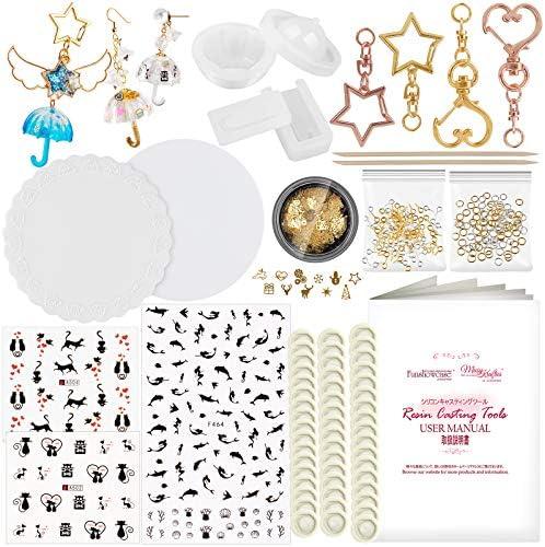 Funshowcase 3D Umbrella Resin Pendant Charm Silicone Mold Set 263 Jewelry Casting Kits DIY Epoxy product image