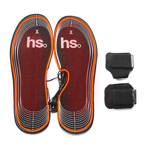 Fancylande Verwarmbare inlegzolen voor elektrische schoenen voor skischoenen, zolen, batterijverwarmingsinzetstukken voor schoenen, verwarming van koolstofvezel met telefoonvak