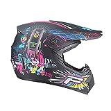 ZWH-box Casco de Motocross para Adultos Todoterreno de Carreras Profesionales Casco de Motocicleta para niños de Dibujos Animados Todoterreno