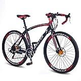 ZGYQGOO Vélo de Route 700c en Acier au Carbone 30 Vitesses 27 Pouces vélo de Montagne extérieur...