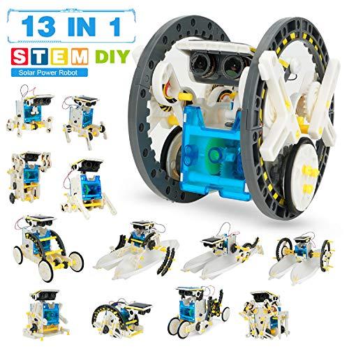 Pickwoo STEM 13-in-1 Solar Power Robots Creation Toy, Educational Experiment DIY Robotics Kit,...