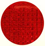 ifloortape DOT-SAE Red Dot 3 Inch Round High Visibility Reflective Stick-On Prism Reflector | (4 Decal Pack)