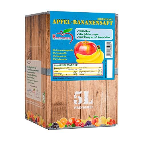 Pfannenschwarz Apfel-Bananensaft 100% Direktsaft, 2er Pack (2x5 l Bag in Box)