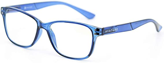 AVATUDE Blue Light Glasses for Computer Users - Delray (+1.50, Blue)