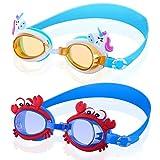 BSTEle Gafas de natación para niños 2 Piezas Gafas de Buceo de...
