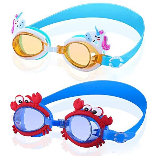 Einsgut Duikbril voor kinderen, 4-12 jaar, lekvrij, voor jongens en meisjes, anti-condens en UV-bescherming