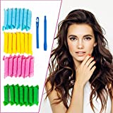 Hair Curlers Spiral Curls Large Hair Rollers Wavy Hair Curler - Self Grip and No Heat Hair Styling Kit for Most Kinds Of Hairstyles With 2 Magic Wands (28 Pcs, 30cm)