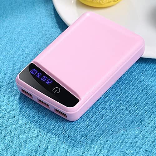 GLNuoke Banco de energía 10000 mAh de mayor capacidad Mini portátil Banco de energía externa Cargador de teléfono para iPhone Samsung Xiaomi Poverbank (color de color rosa)