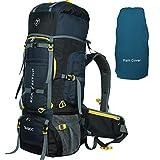 TRAWOC 80L Travel Backpack for Outdoor Sport Camp Hiking Trekking Bag Camping Rucksack HK007 (Grey)...