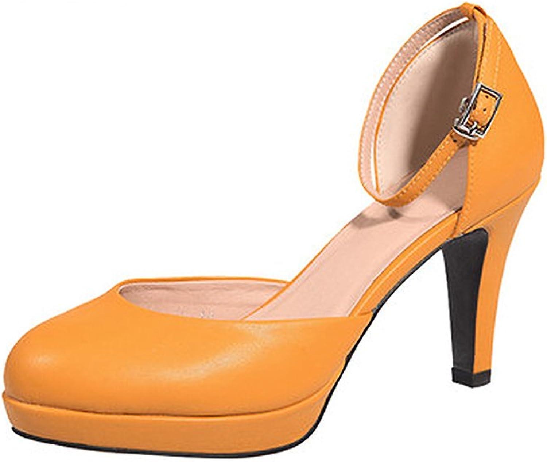 XUERUI Spring Tide Fashion Sexy High Heels Round Head Wild shoes with A Single shoes (Size   EU38 UK5.5 CN38)