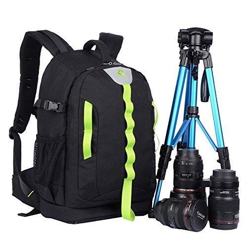 Abonnyc DRLBP-CD Waterproof Anti-Shock Camera Backpack Bag Case for DSLR and SLR Cameras (Black)