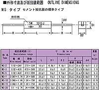 TDO抵抗器 角形セメント抵抗器 3W MS-3 0.5ΩJ (10個入)