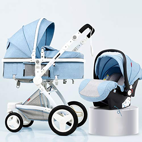 Why Choose YRSTC Baby Stroller, Reclining Stroller, Foldable and Portable Pram Carriage Anti-Shock P...