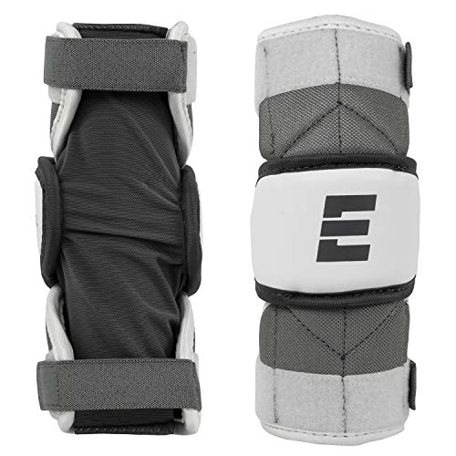 Epoch ID Jr. Youth Lacrosse Arm Pad for Attack, Middie, and Defensemen, 8.5-10 Inches (21.5 cm - 25.5 cm), White