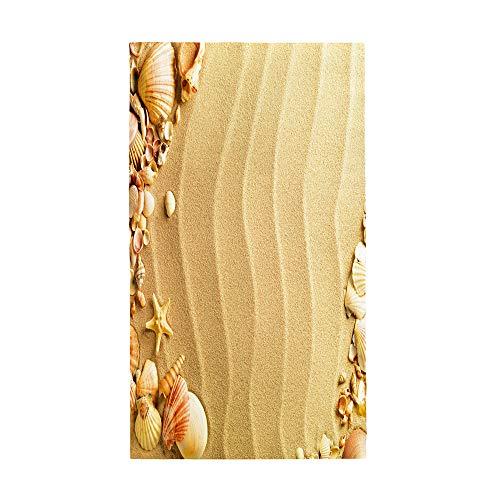 Surwin Grande Toalla de Playa de Microfibra Toalla a Impresión de Secado Rápido Súper Absorbente Natación Toalla de Arena Antiadherente para Playa, 3D Impresión (Playa de Arena,80x160cm)