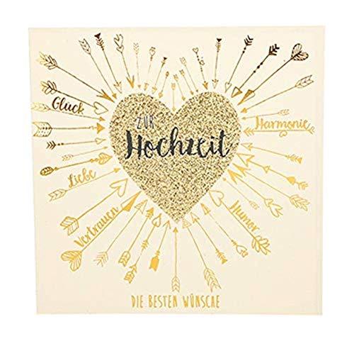 Depesche 8211.044 - Glückwunschkarte Glamour mit Verzierung und Glitzer, Hochzeit