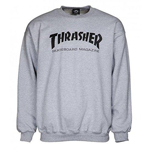 THRASHER Sweatshirt Skate-Mag Crewneck greymottled