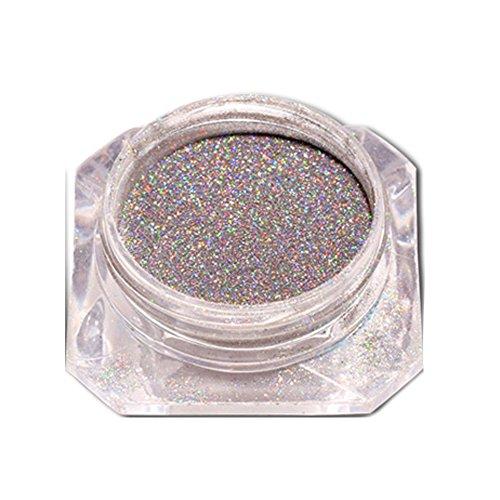 Kashyk Optische Chamäleon Illusion Multi-Color-Glitzerspiegel Spiegelpulver Holographic Laser Powder Rainbow Nail Art Pigment Super Shine Manicure Glitter