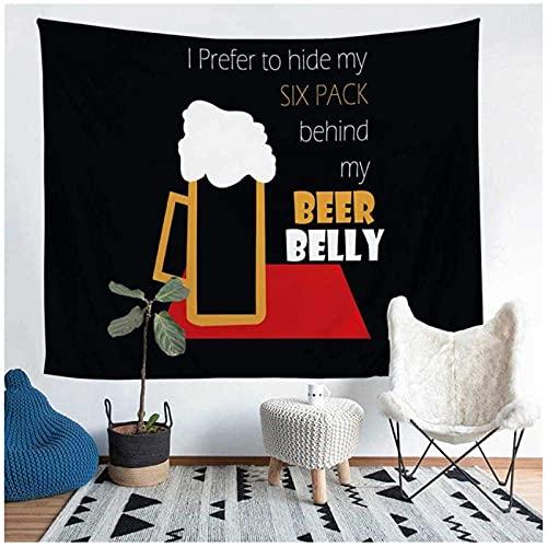 Tapiz de cerveza para colgar en la pared de arena playa picnic manta de camping tienda cojín de dormir 150 x 130 cm