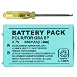 Gameboy Advance SP Battery, TFSeven 1Pcs Nintendo GBA SP Replacement Battery 850mah 3.7V Rechargeable Lithium Ion for Nintendo GBA Sp Gameboy Anvance SP
