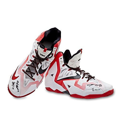 LeBron James Autographed & Inscribed Game-Used Nike LeBron 11 Shoes (vs. Nuggets 3/14/14), 1 of 1