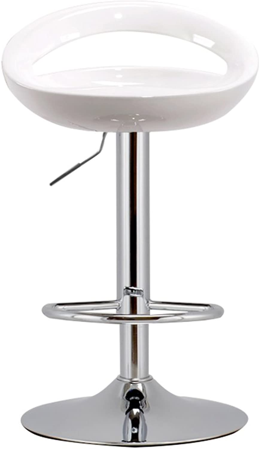 Bar Chair European Home Bar Chair Stylish and Simple Chair Lift High Stool Bar Stool 4160-80cm (Multicolor Optional) (color   White)