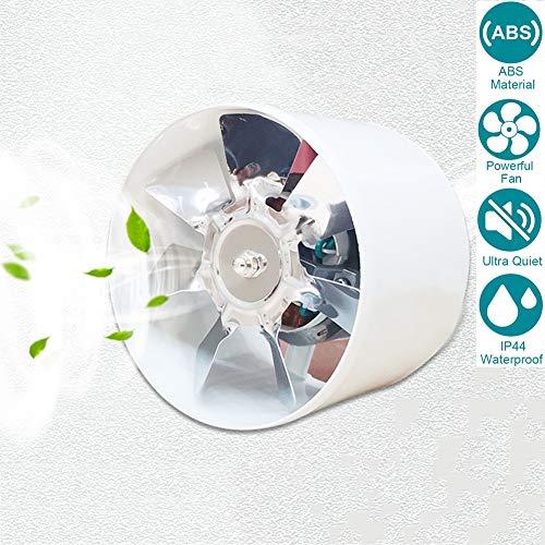 Aspiratore 100mm/4'' Estrazione Ventilazione Standard per Bagno Cucina Valvola di Non Ritorno Aspirazione Perimetrale, Protezione IPX4 Contro Spruzzi d`Acqua 140m³ / h