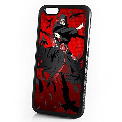 ( For iPhone 8 Plus / iPhone 7 Plus ) Durable Protective Soft Back Case Phone Cover - A11335 Naruto Itachi Blood Moon