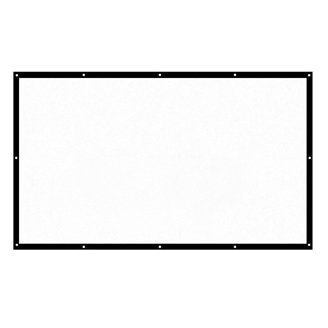 リンケージ地理誠実KKmoon H150 150 ポータブルプロジェクター スクリーンHD 16:9ホワイトダクロン150インチ対角ビデオ投影スクリーン折りたたみ壁掛けホームシアターオフィス映画室内で屋外