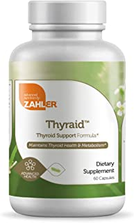 Zahler Thyraide, Thyroid Support Supplement with Iodine and L-Tyrosine, Helps Maintain Thyroid Health & Metabolism, Certif...