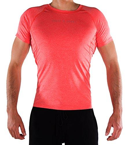 SHAPE & GLORY - Fitness-Shirts für Herren in Watermelon Red, Größe M