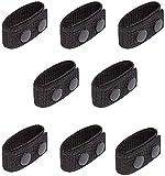 Cinturón Keeper,RoadLoo 16 Piezas Cinturón de Nailon Accesorios Cinturón Táctico con Doble Cierre Protector Cinturón de Doble Broche para Deportes al Aire Libre Camping Policía Equipo Militar Negro
