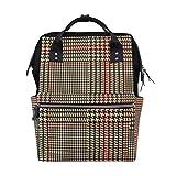 Plover Case Vintage Plaid Mochila Bolsa de pañales para mamá y mujer, bolsa de viaje grande para la escuela, portátil, senderismo, al aire libre