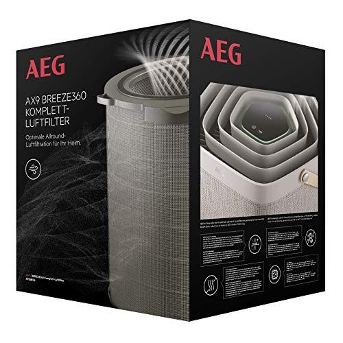 AEG AFDBRZ6 Filter BREEZE360 (Passend für AX91-604DG/AX91-604GY Luftreiniger, beseitigt 99,9% der Bakterien, effektiv gegen Gerüche, reine Luft, optimale Filtration, lange Lebensdauer, grau)