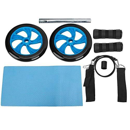 Heitune Qualität Fitness Roller Workout Bauchtrainingsgerät mit Zugband Domestic Muskeltrainingsgeräten (blau)