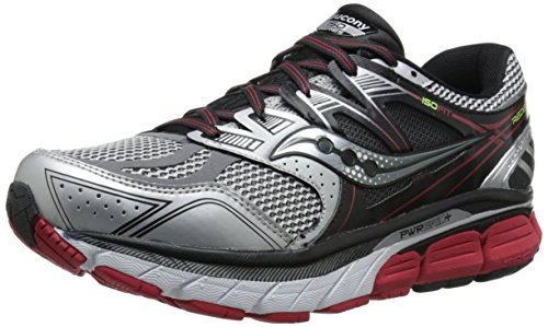 Saucony Men's Redeemer ISO Running Shoe, Black/Blue,11.5 M US