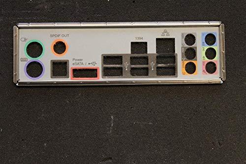 ASRock X58 Deluxe Blende - Slotblech - I/O Shield #39660