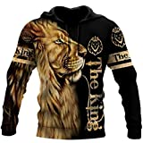 Lion The King All Over Printed 3D Hoodie, Zip Hoodie, Sweatshirt