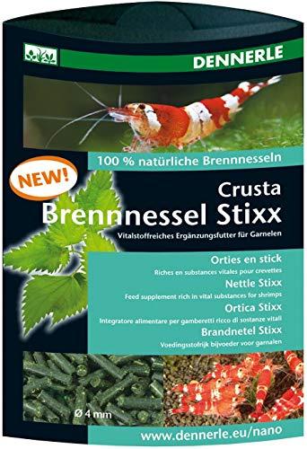 Dennerle Crusta Brennnessel Stixx - Futterergänzung für Wirbellose wie Garnelen