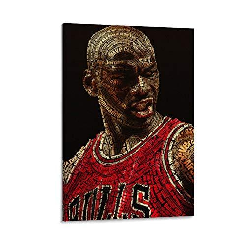 XIXILI Póster decorativo de Michael Jordan, diseño de jugador de baloncesto de superestrella de Michael Jordan, 40 x 60 cm