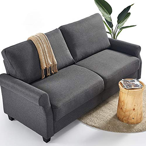 ZINUS Josh Sofa Couch / Easy, Tool-Free Assembly, Dark Grey