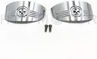 HTTMT MT325-020A- Skull Turn Signal Visors Compatible with Harley 86-92 FXRT/86-90 FLST/88-17 FLSTC/94-17 FLHR