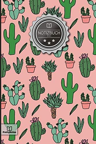 """Notizbuch: \""""Muster: Kaktus\"""" • DIN A5, Liniert, 120+ Seiten, 6x9 Zoll (15,2x22,9 cm), Soft Cover, mit Inhaltsverzeichnis • Perfekt als Zeichenbuch, ... Schulheft, Notizheft oder Schreibblock"""