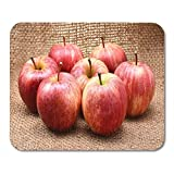 Yaoni Alfombrillas de ratón Frutas Verdes Rojas Manzanas Royal Gala Marrón Blanco Deliciosas Alfombrillas de ratón para portátiles, Alfombrillas de Escritorio Material de Oficina