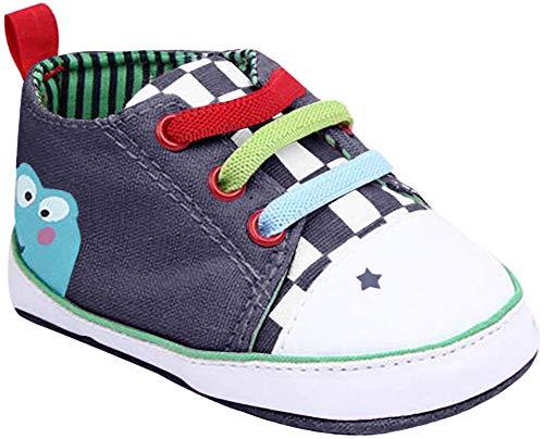 Xiangze Bebe Nino Nina Suave Cordon Suela Lona Zapatos 0-12Meses