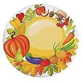 Mantel elástico resistente a las manchas, productos de jardín de todo el año, seta y pimientos, zanahoria, puerro, cubierta decorativa para mesa redonda, para comedor y fiesta