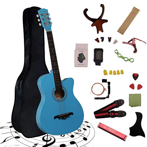 アコースティックギター 初心者25点入門セット ギター 弦 ストラップ チューナー ケース付き