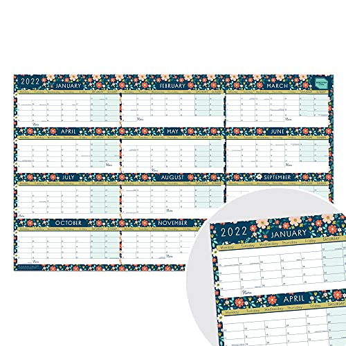 Boxclever Press Wall Planner 2022 (Block Layout). Stunning 2022 Year Planner 2022 runs Jan'22 – Dec'22. 2022 Wall Planner for Home, Study or Work plans. Laminated Planner 2022 – 70 x 43cm